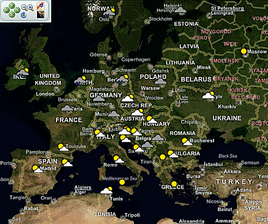Europe Weather map
